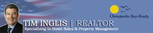 Let Tim Inglis help you buy and sell homes in Virginia. Tim works with buyers interested in residential resale homes, new construction homes and investment properties and also provides property management services for rental properties and professional real estate consulting.
